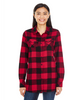 Red/Black - BR5210 Burnside Ladies Woven Plaid Flannel | T-shirt.ca
