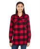 Red/Black Buffalo - 5210 Burnside Ladies Woven Plaid Flannel | T-shirt.ca
