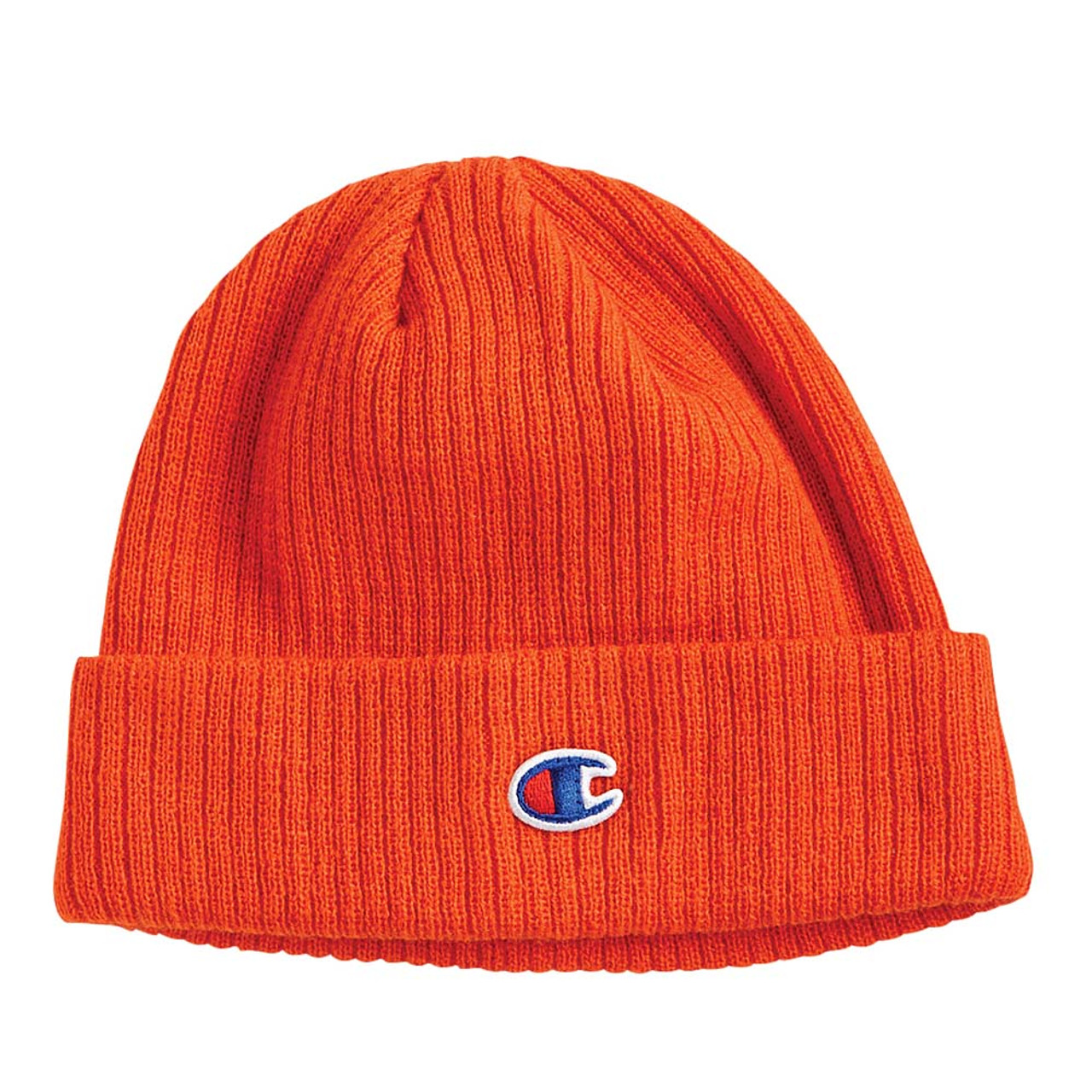 Spicy Orange - CS4003 Champion Cuffed Ribbed Knit Toque | T-shirt.ca