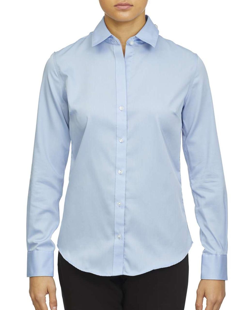 18CC105 Calvin Klein Ladies' Long Sleeve Non Iron Pincord Shirt   T-shirt.ca