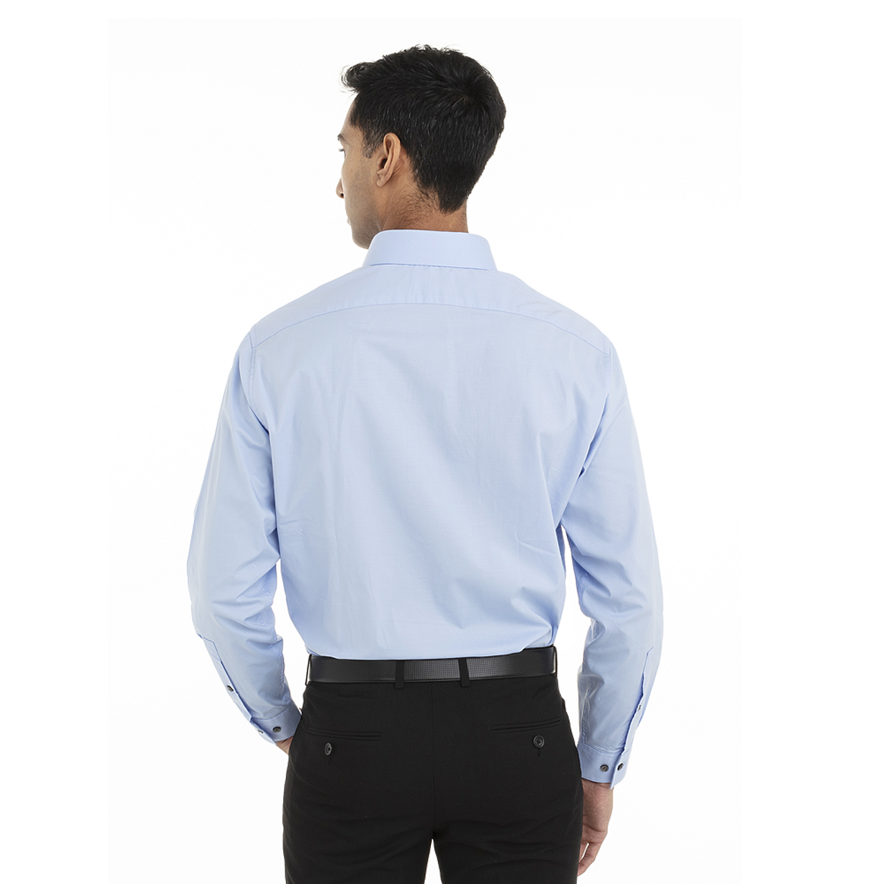 Stream - Back, 18CC108 Calvin Klein Long Sleeve Cotton Stretched Shirt | T-shirt.ca