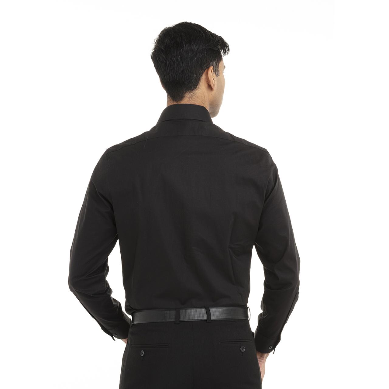 18CC109 Calvin Klein Long Sleeve Cotton Stretch Shirt   T-shirt.ca