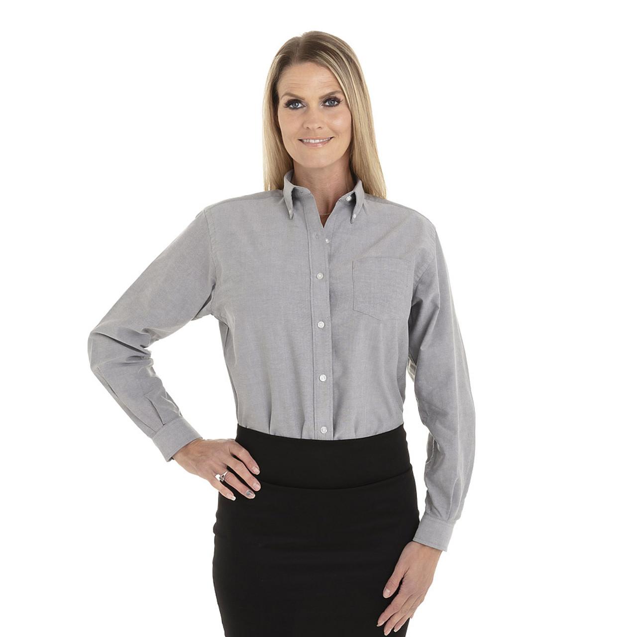 Greystone - 18CV300 Van Heusen Ladies' Long Sleeve Oxford Shirt | T-shirt.ca