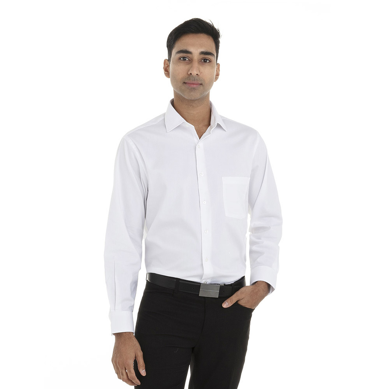 White - 18CV315 Van Heusen Long Sleeve Flex Stretch Shirt | T-shirt.ca