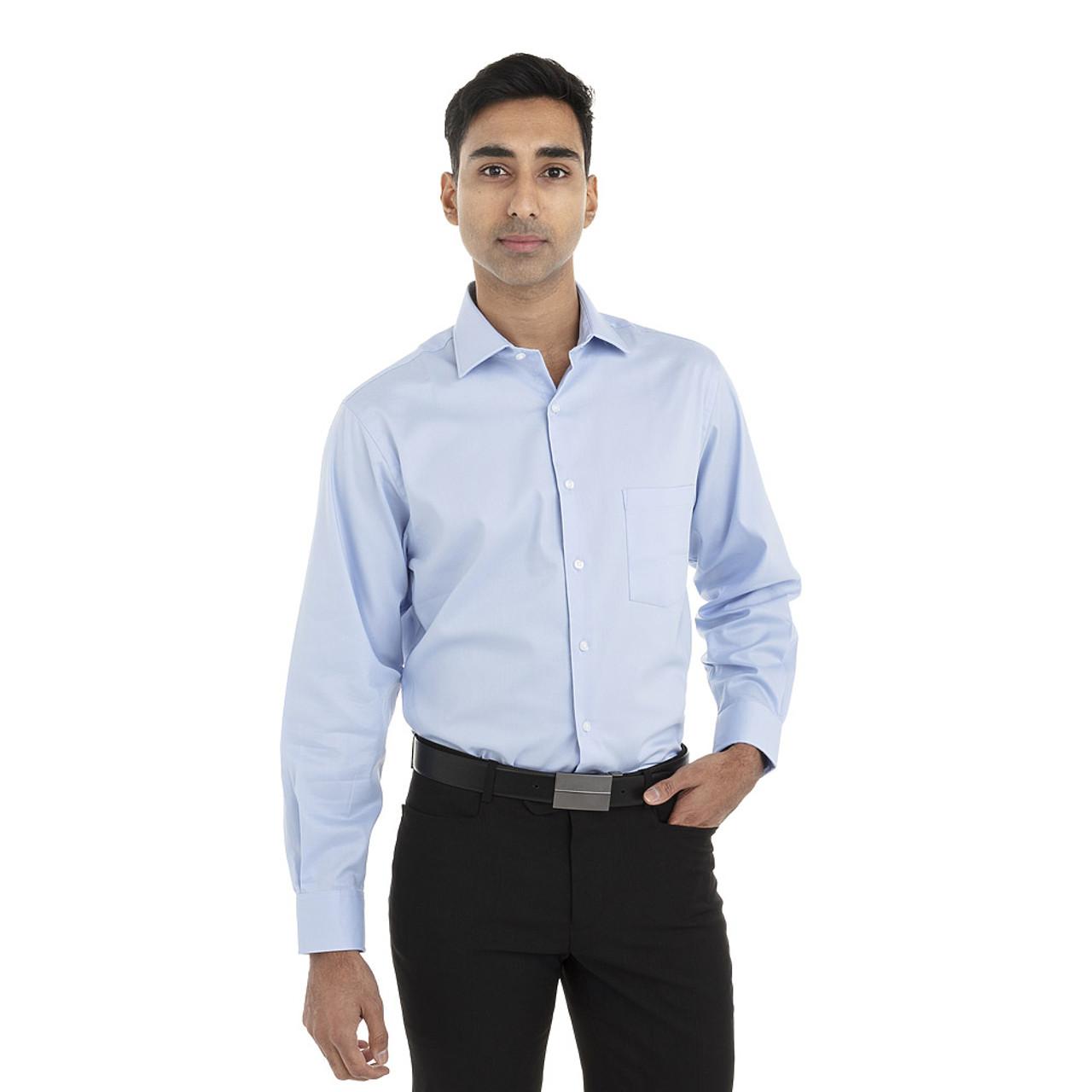 English Blue - 18CV315 Van Heusen Long Sleeve Flex Stretch Shirt | T-shirt.ca