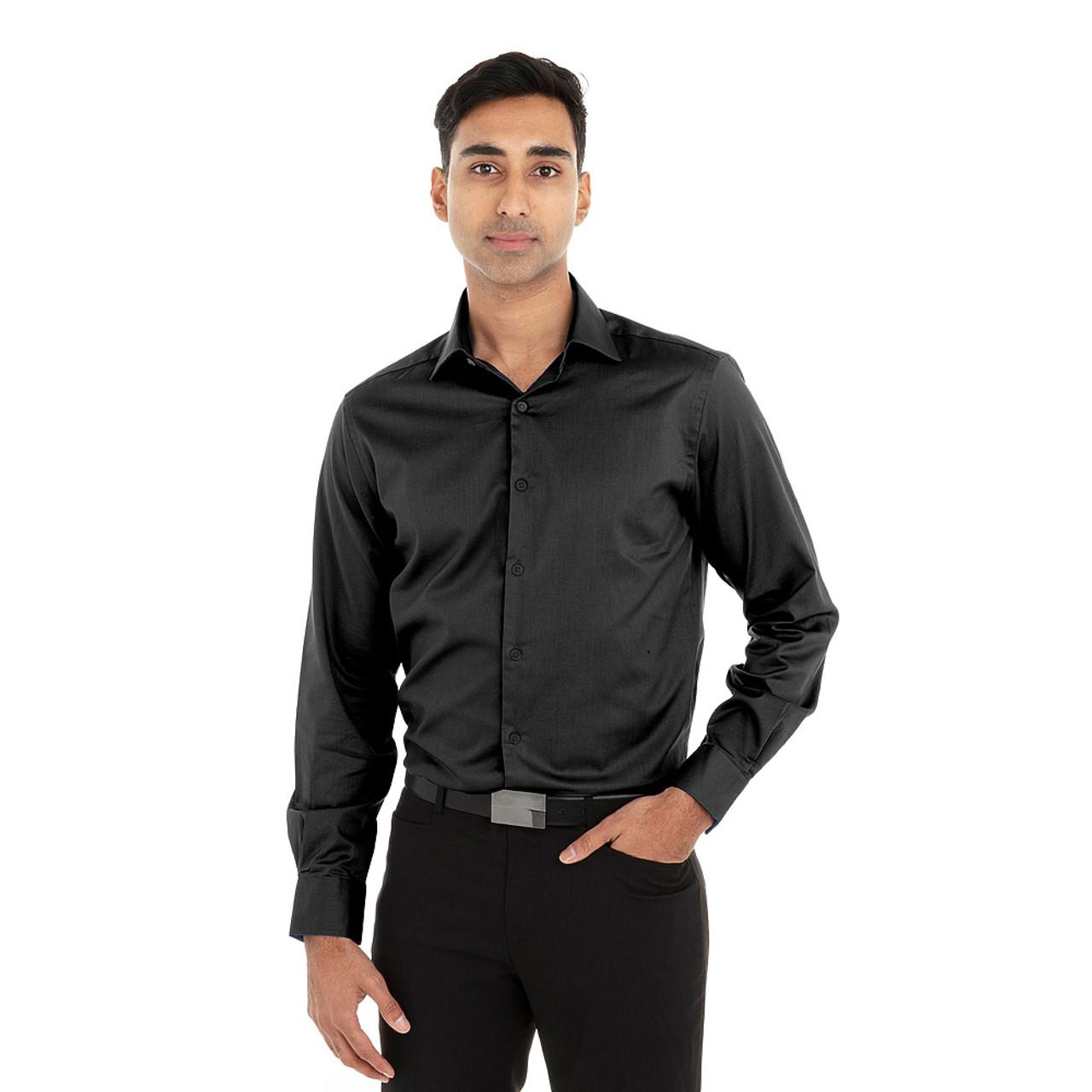 Black - 18CV316 Van Heusen Long Sleeve Dress Twill Shirt   T-shirt.ca