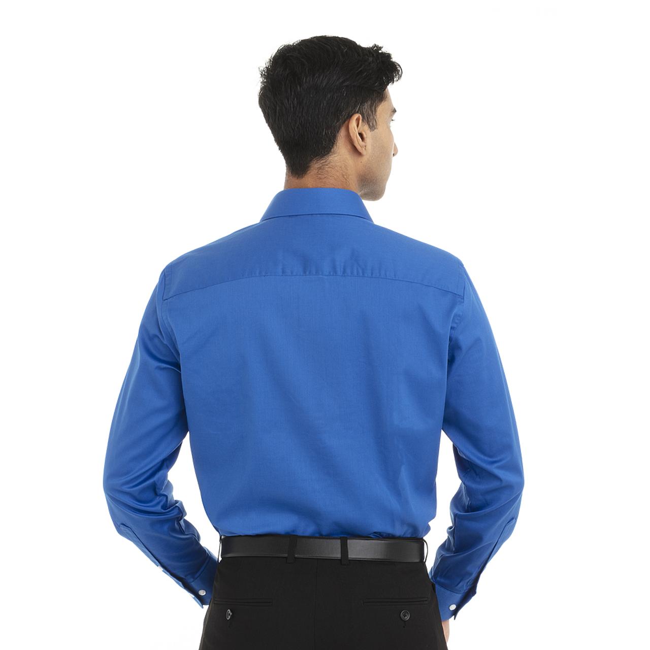 Ultra Blue - Back, 18CV316 Van Heusen Long Sleeve Dress Twill Shirt   T-shirt.ca