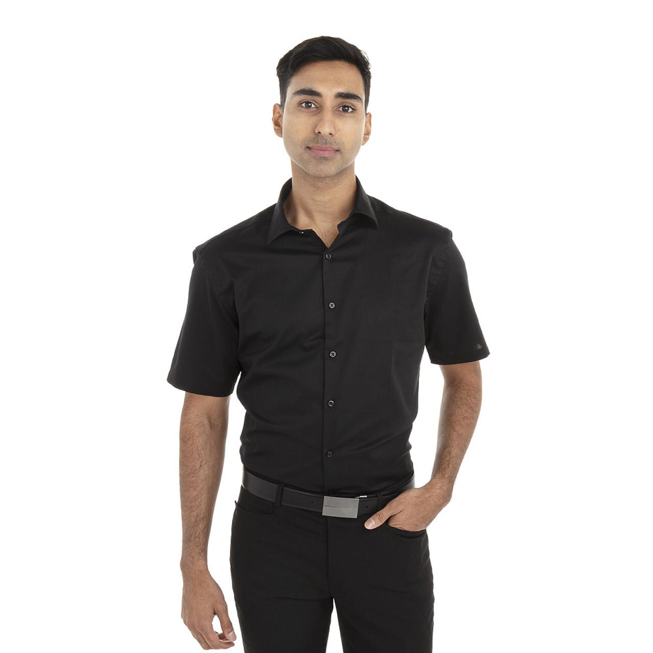 Black - 18CV317 Van Heusen Short Sleeve Dress Twill Shirt   T-shirt.ca