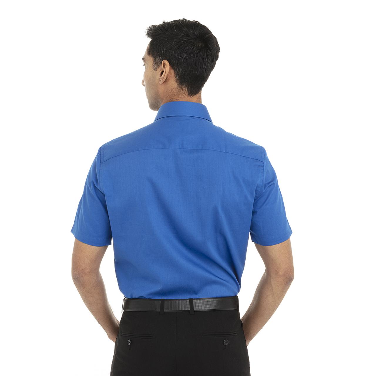 Ultra Blue - Back, 18CV317 Van Heusen Short Sleeve Dress Twill Shirt   T-shirt.ca