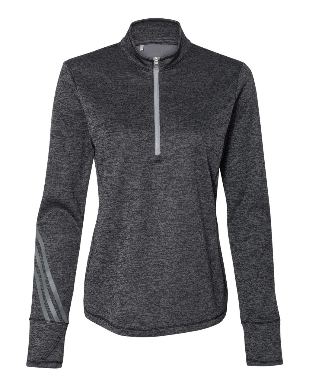 A285 Adidas Women's Brushed Terry Heather Quater-Zip Pullover | T-shirt.ca