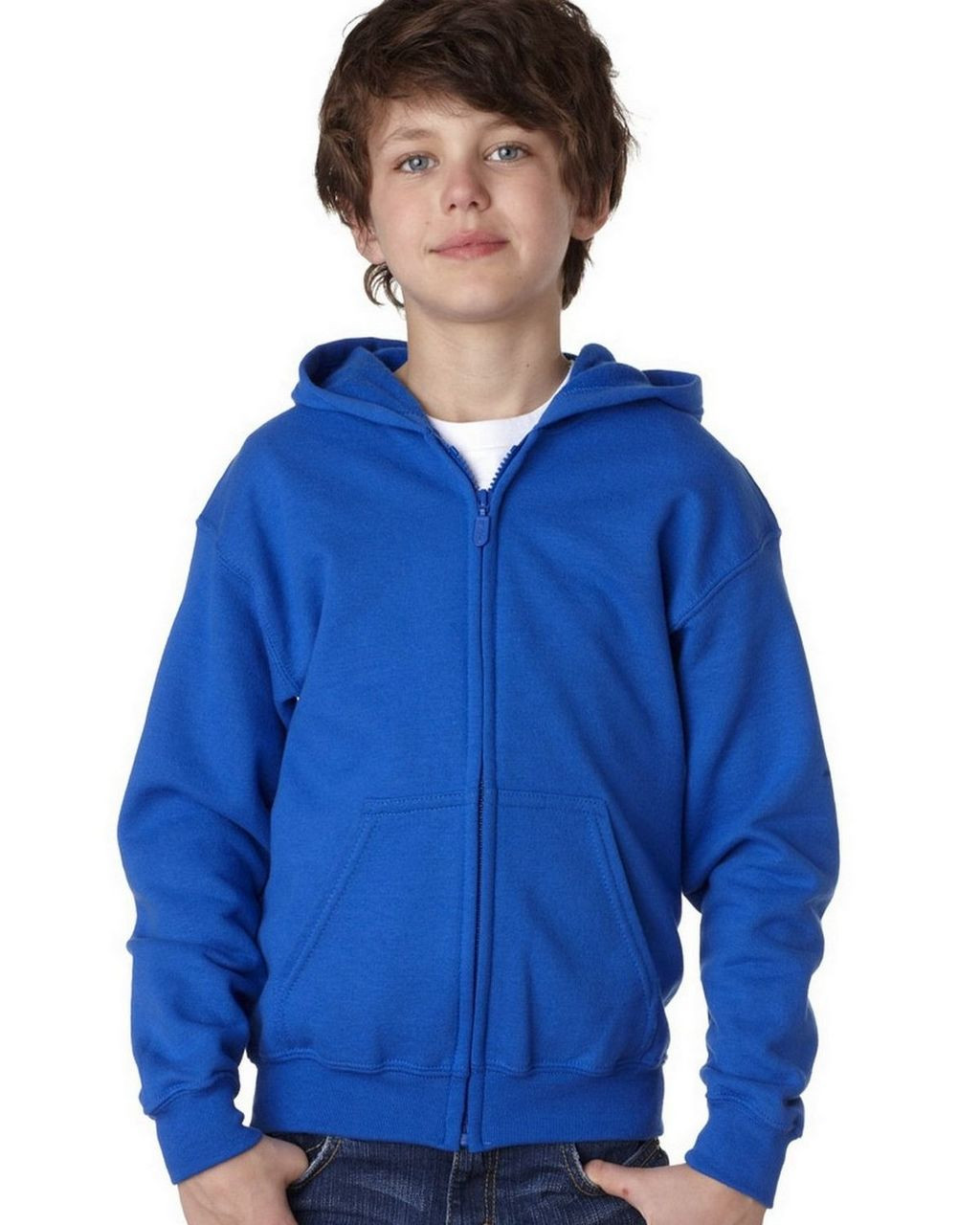Royal - 18600B Gildan Youth Full Zip Hoodie | T-shirt.ca