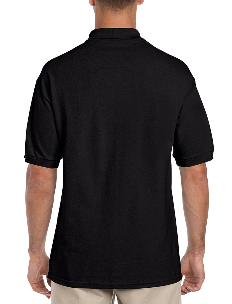 Black - Back, 3800 Gildan Ultra Cotton Pique Polo Shirt | T-shirt.ca