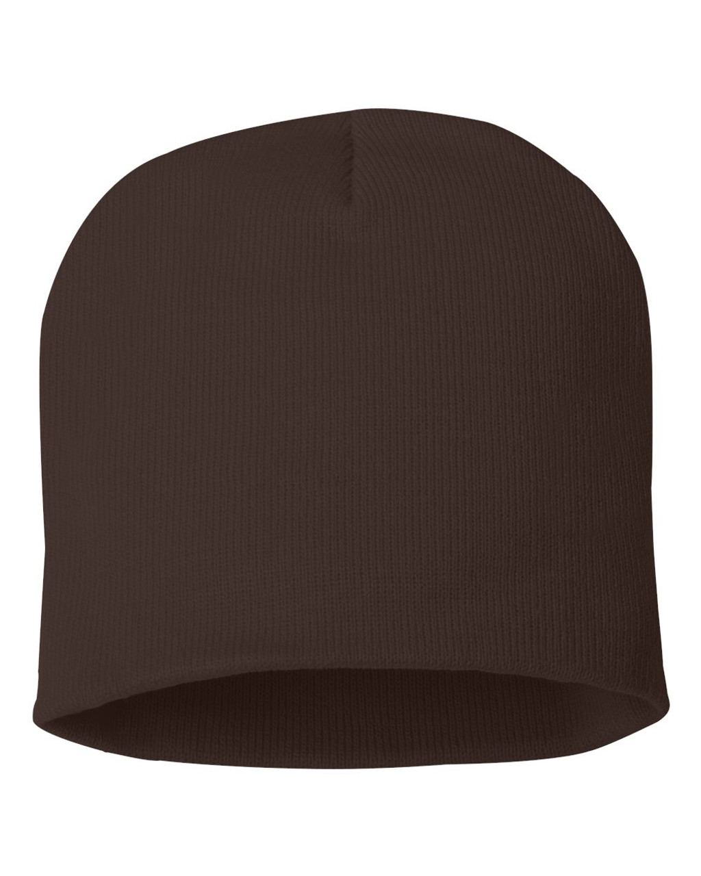 "Brown - SP08 Sportsman Acrylic Knit 8"" Toque 