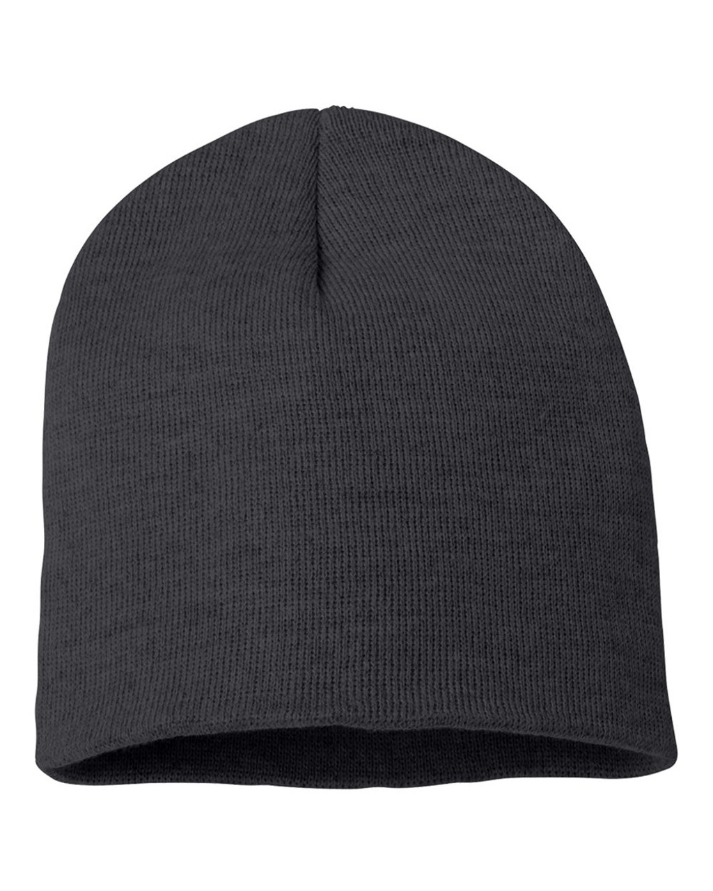 "Heather Charcoal - SP08 Sportsman Acrylic Knit 8"" Toque 