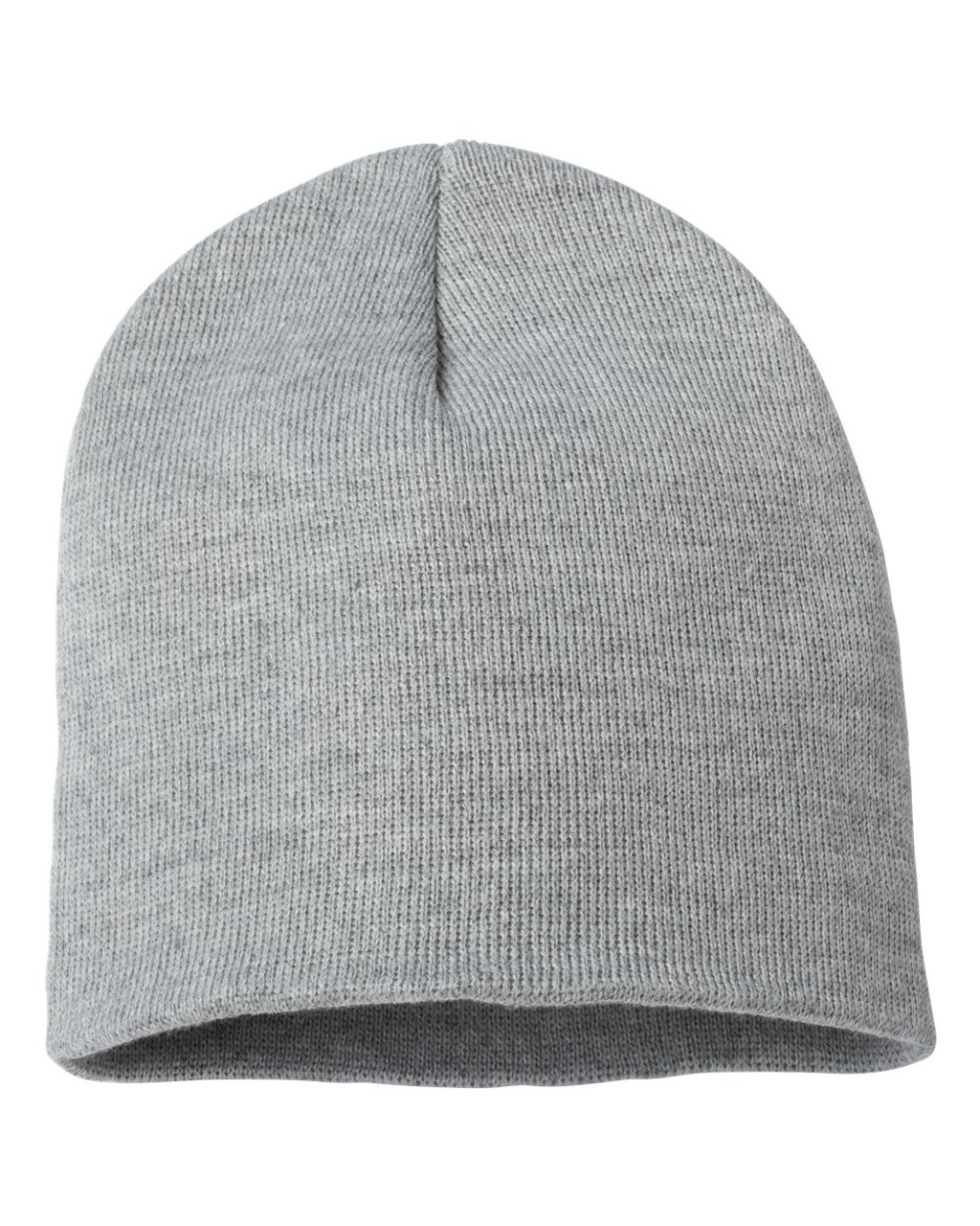 "Heather Grey - SP08 Sportsman Acrylic Knit 8"" Toque 