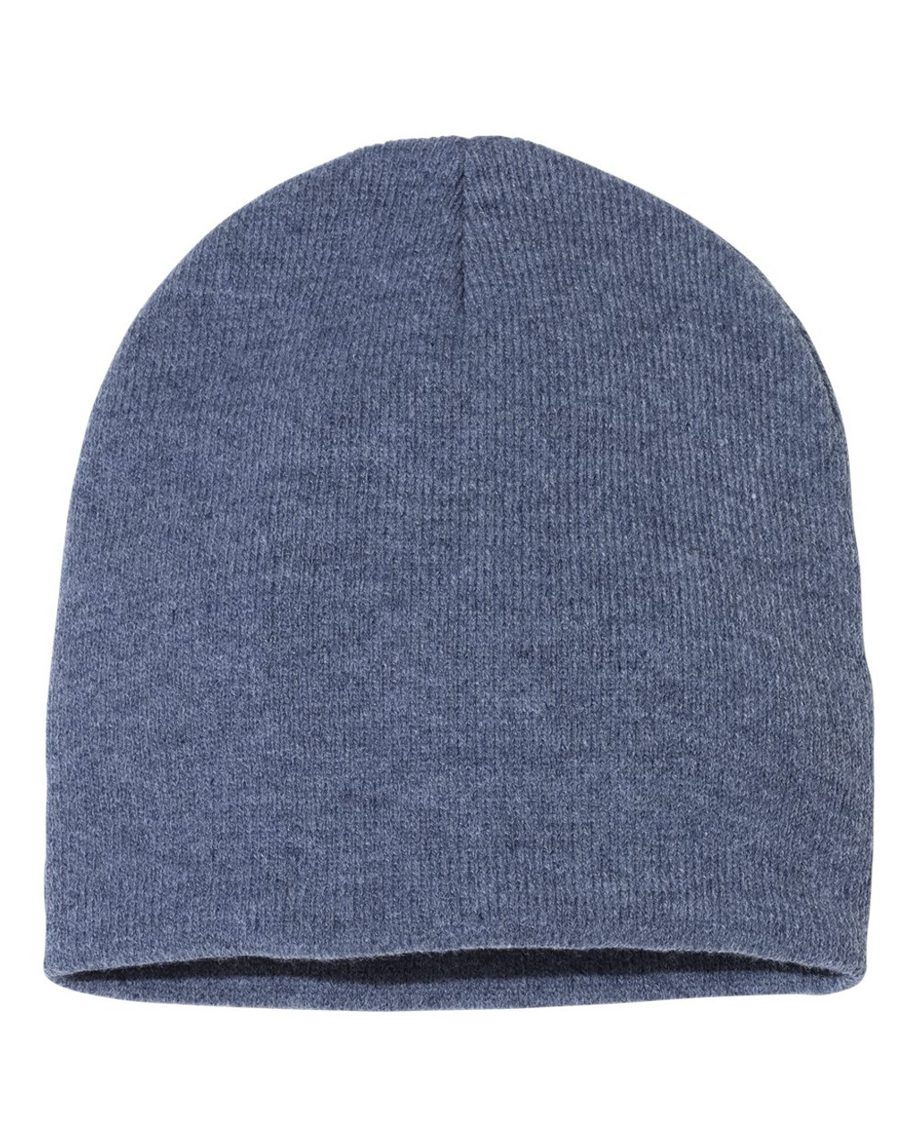 "Heather Navy - SP08 Sportsman Acrylic Knit 8"" Toque 