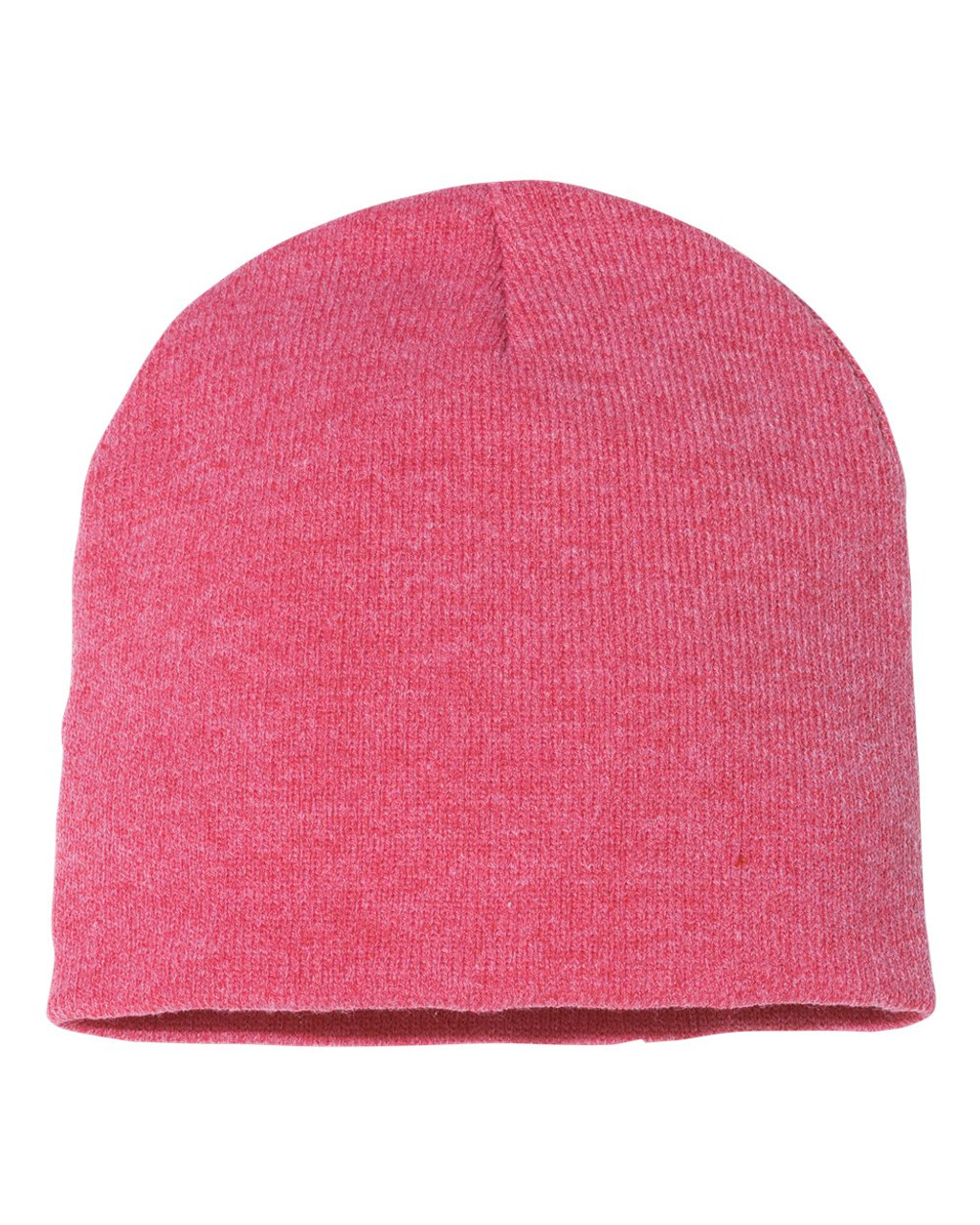 "Heather Red - SP08 Sportsman Acrylic Knit 8"" Toque 