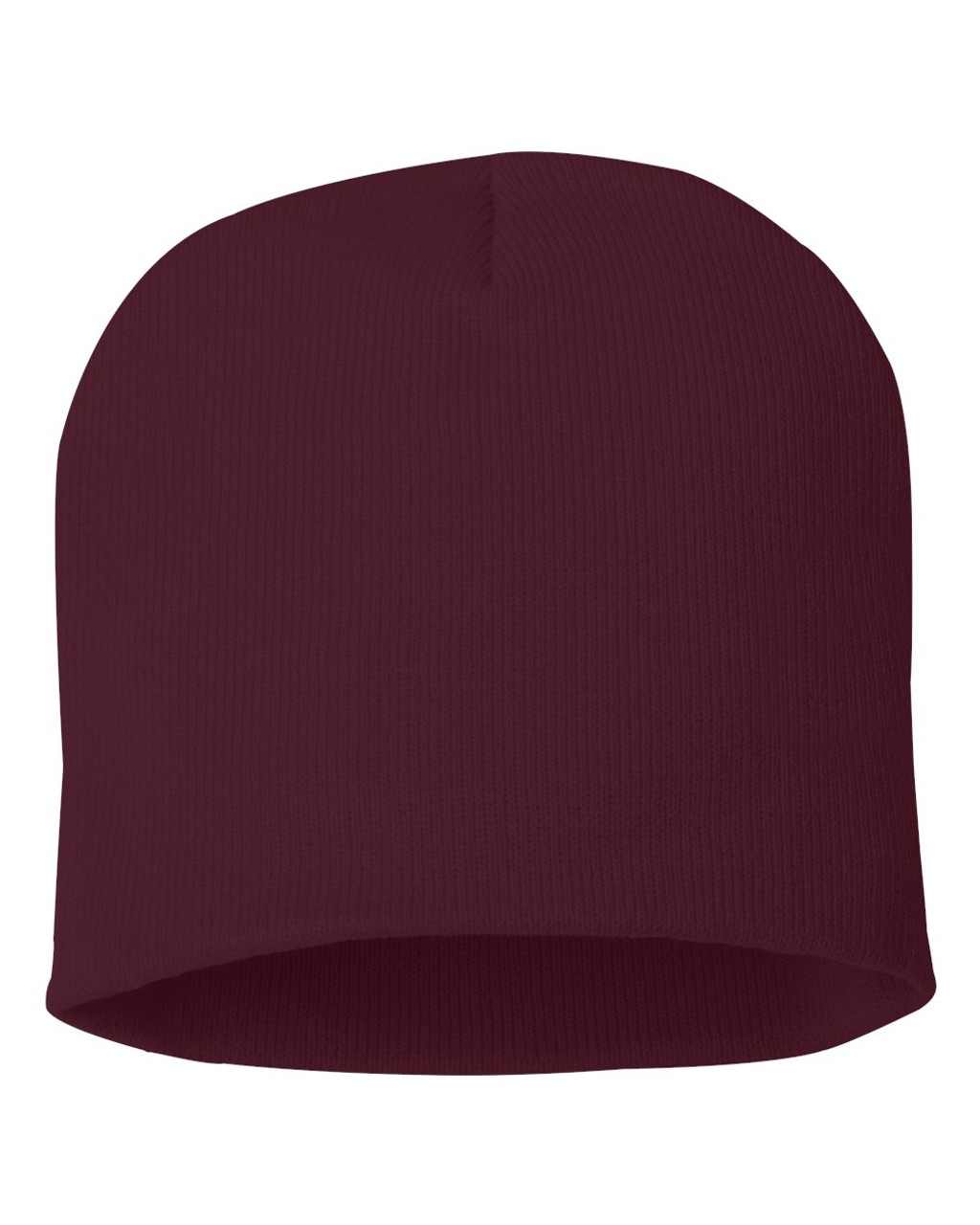 "Maroon - SP08 Sportsman Acrylic Knit 8"" Toque 