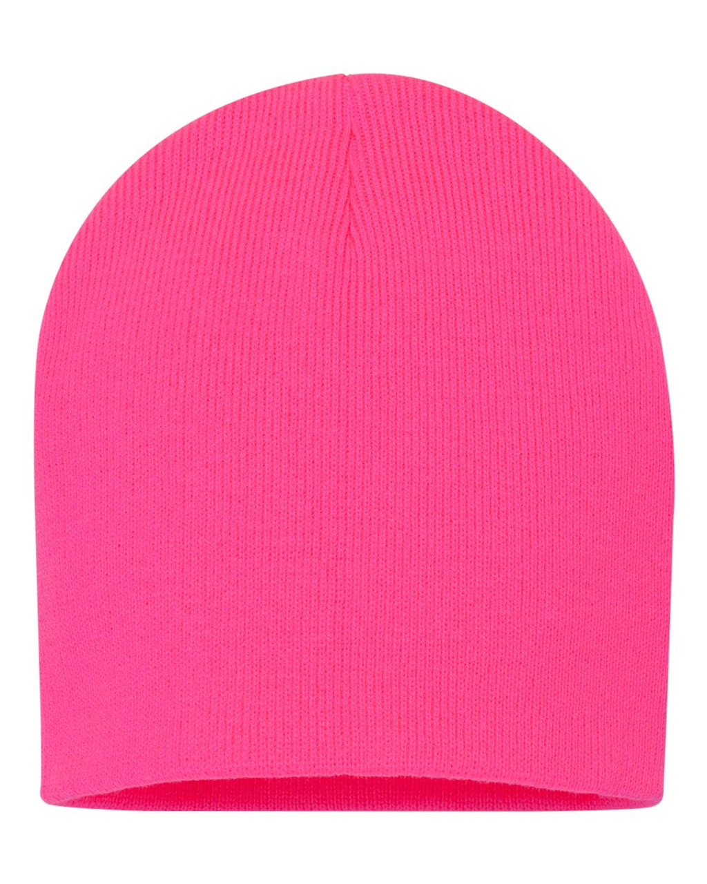 "Neon Pink - SP08 Sportsman Acrylic Knit 8"" Toque 