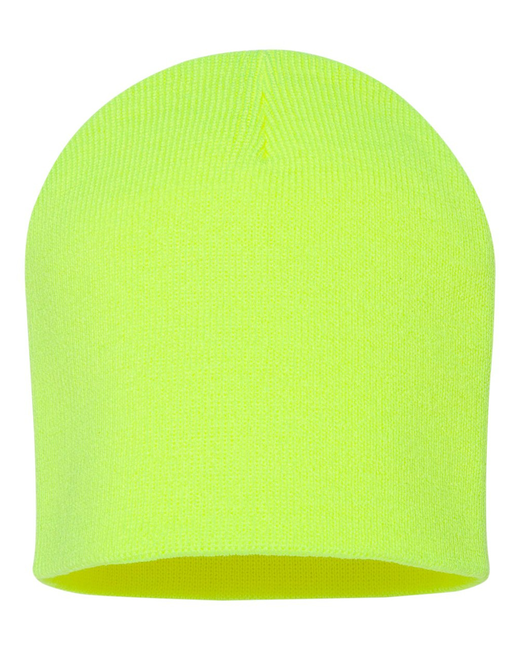 "Neon Yellow - SP08 Sportsman Acrylic Knit 8"" Toque 