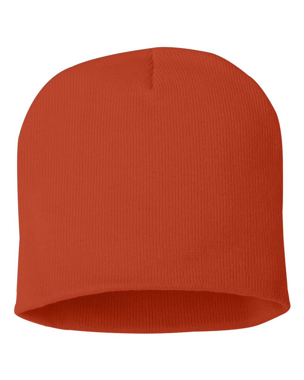 "Orange - SP08 Sportsman Acrylic Knit 8"" Toque 