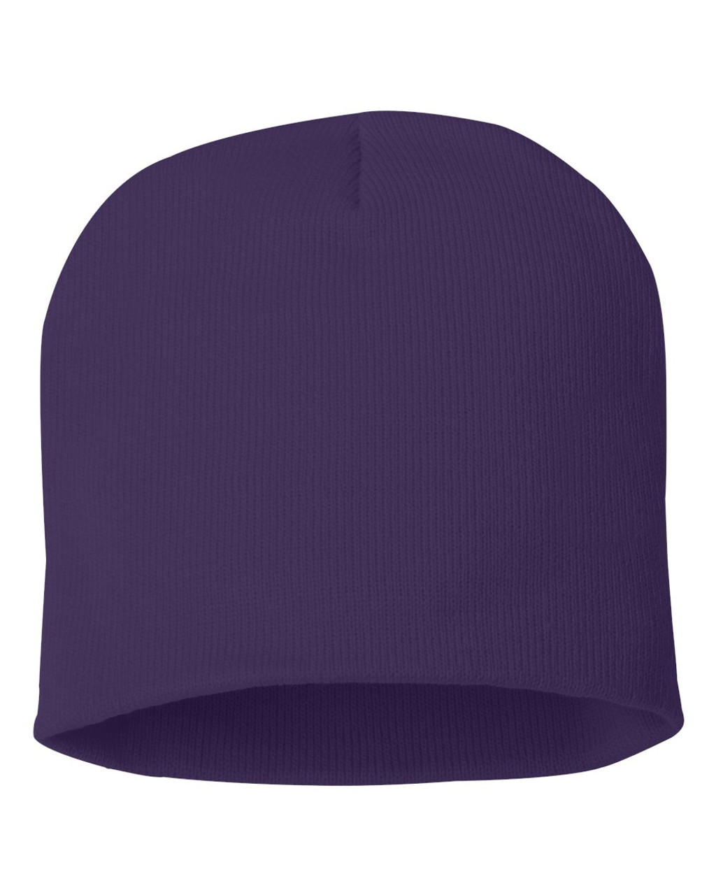"Purple - SP08 Sportsman Acrylic Knit 8"" Toque 