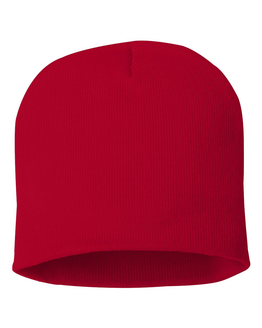 "Red - SP08 Sportsman Acrylic Knit 8"" Toque 