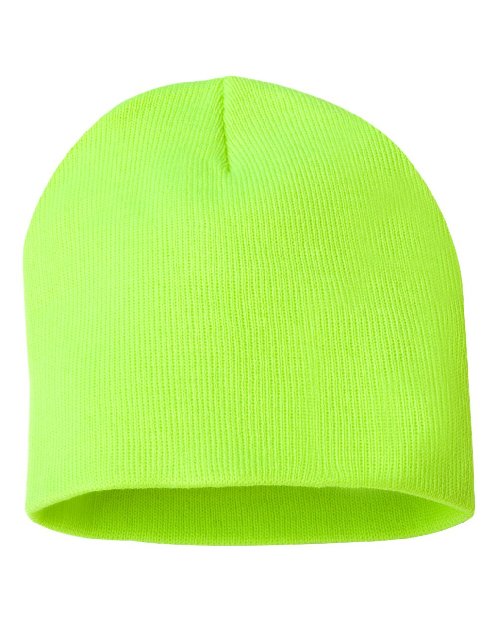 "Safety Yellow - SP08 Sportsman Acrylic Knit 8"" Toque 