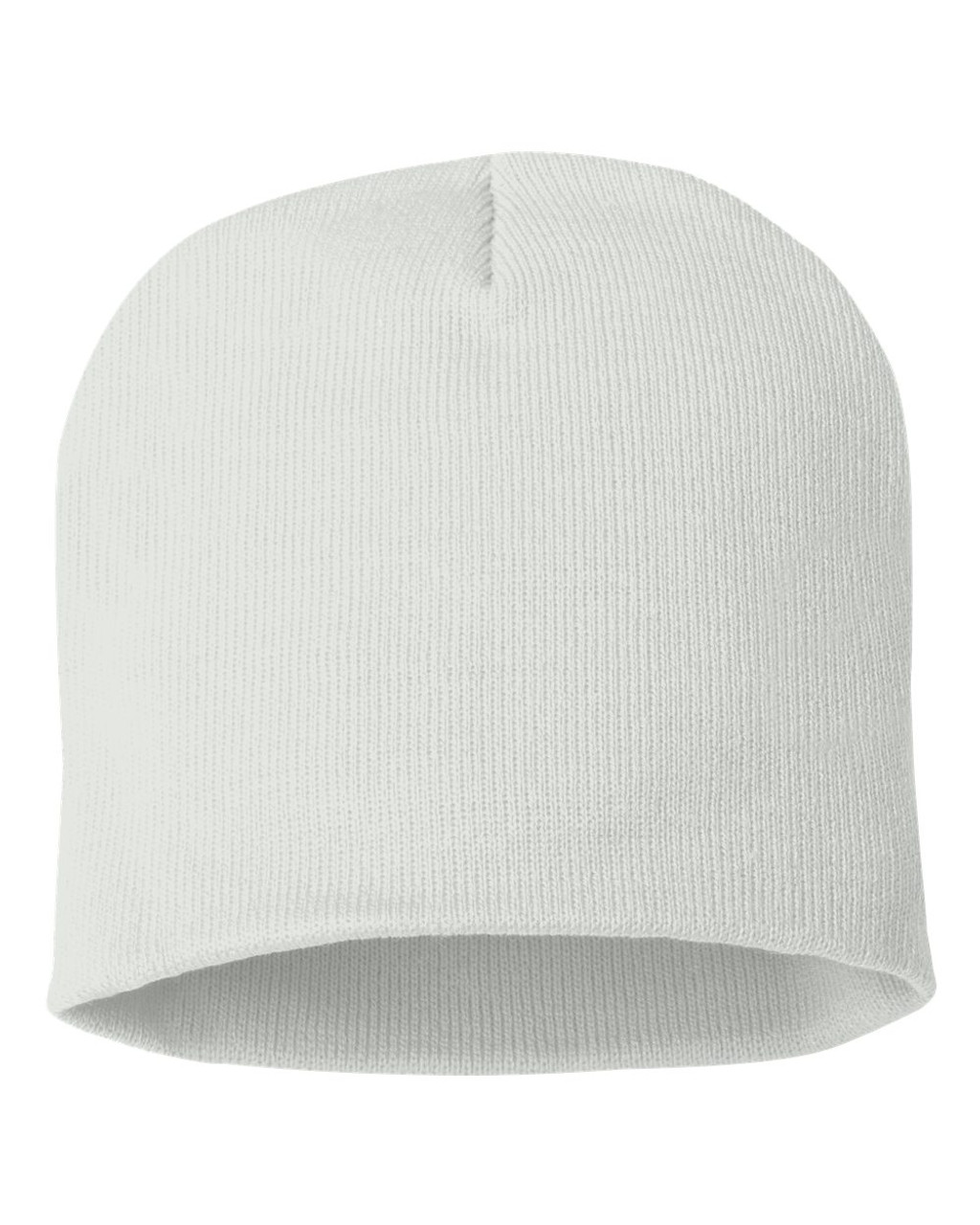 "White - SP08 Sportsman Acrylic Knit 8"" Toque 