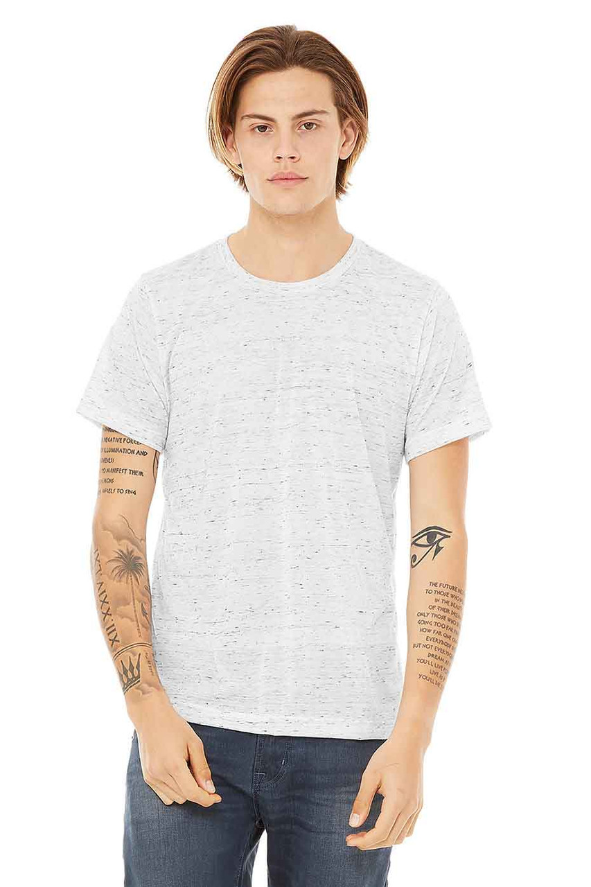 White Marble - B3650 Bella+Canvas Marble Poly Cotton Tee   T-shirt.ca