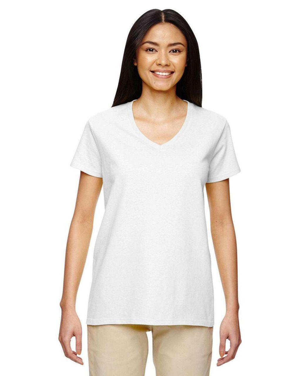 5V00L Gildan Ladies' V-Neck T-Shirt | T-shirt.ca
