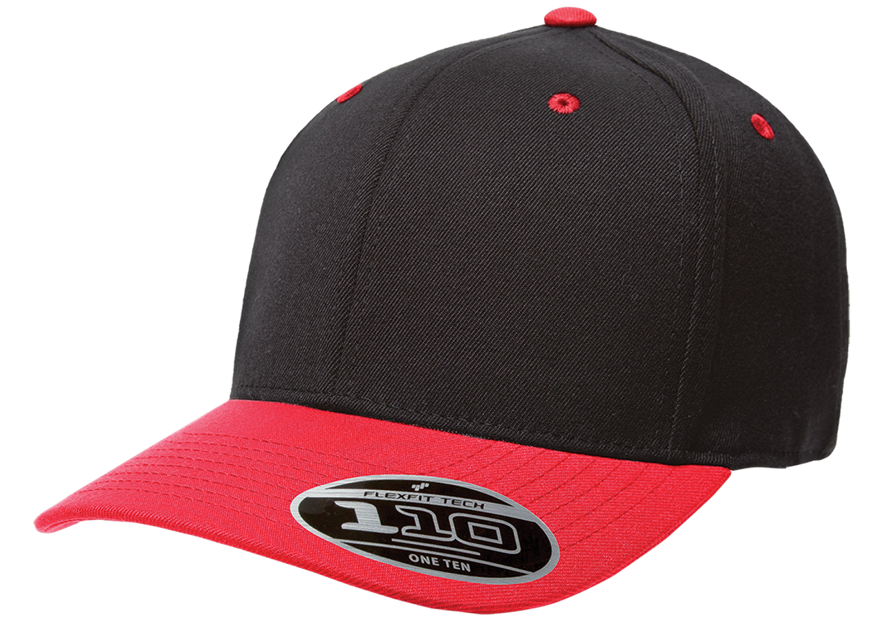 Black/Red - 110C FlexFit Cool & Dry Pro-Formance Cap | T-shirt.ca