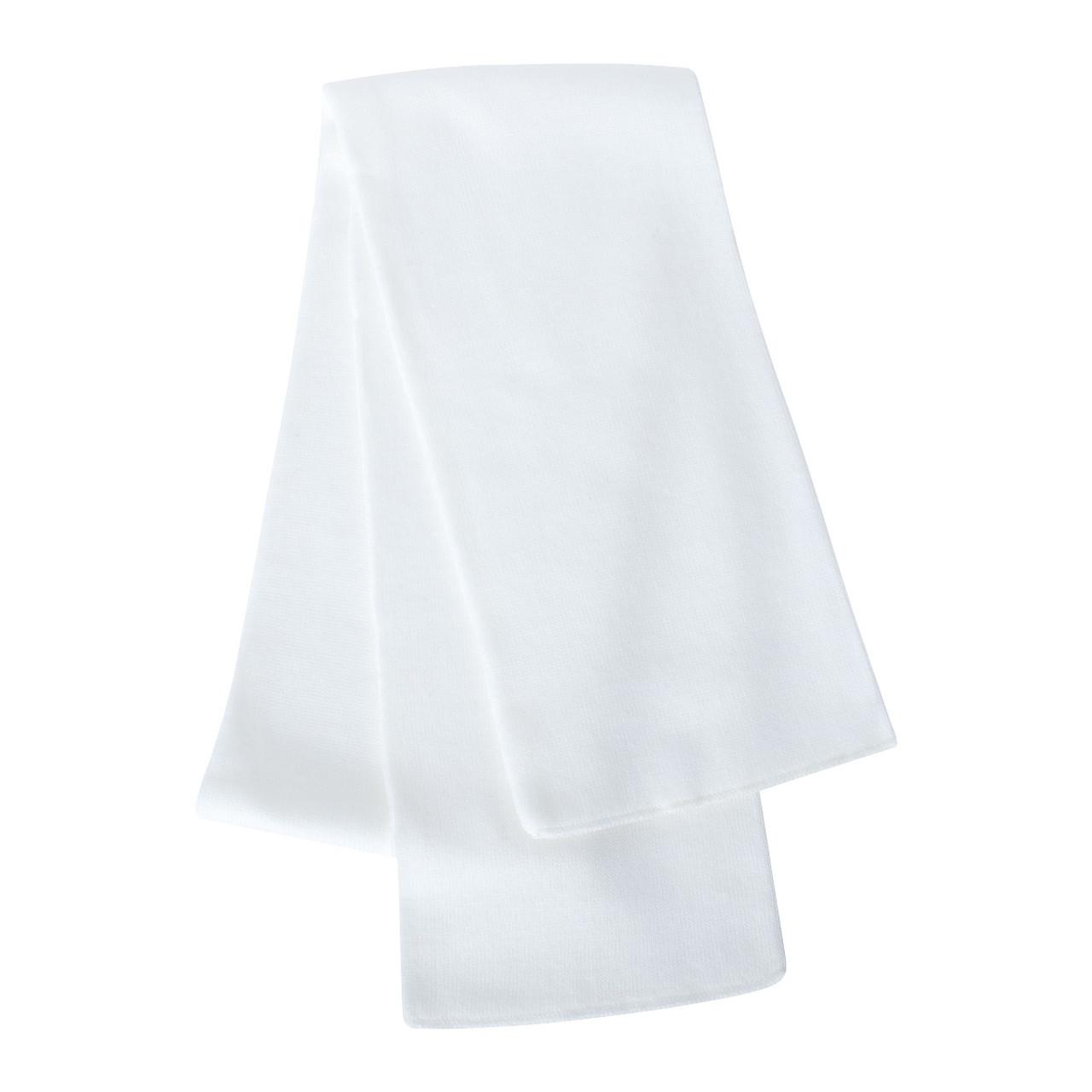 White - SP04 Sportsman Knit Scarf | T-shirt.ca