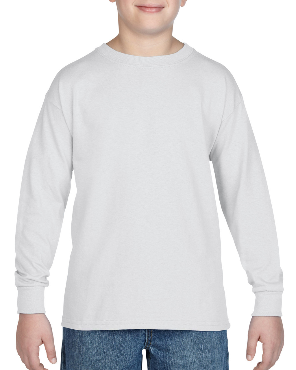 5400B Gildan Heavy Cotton Youth Long Sleeve Tee   T-shirt.ca