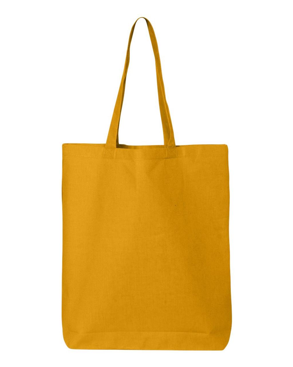 QTBG Q-Tees Cotton Gusseted Economical Tote | T-shirt.ca