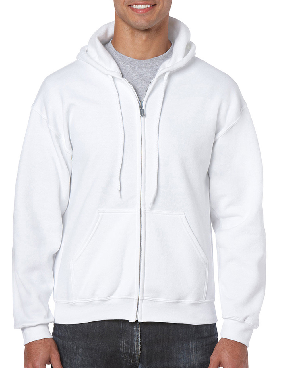 18600 Gildan 50/50 Full Zip Hooded Sweatshirt   T-shirt.ca