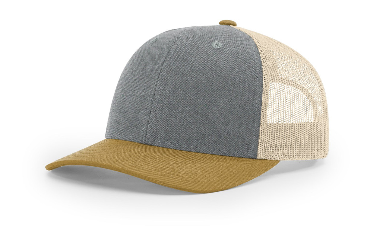 Heather Grey/ Amber/ Gold - 115 Richardson Low Profile Trucker Cap | T-shirt.ca