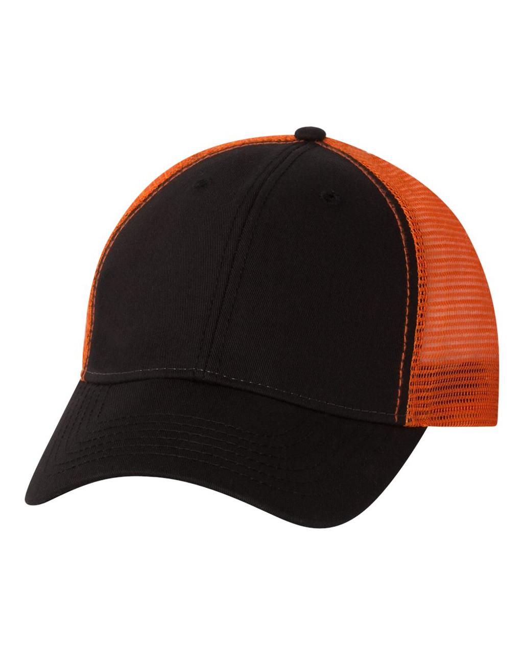 Black/Orange - AH80 Sportsman Washed Trucker Cap | T-shirt.ca