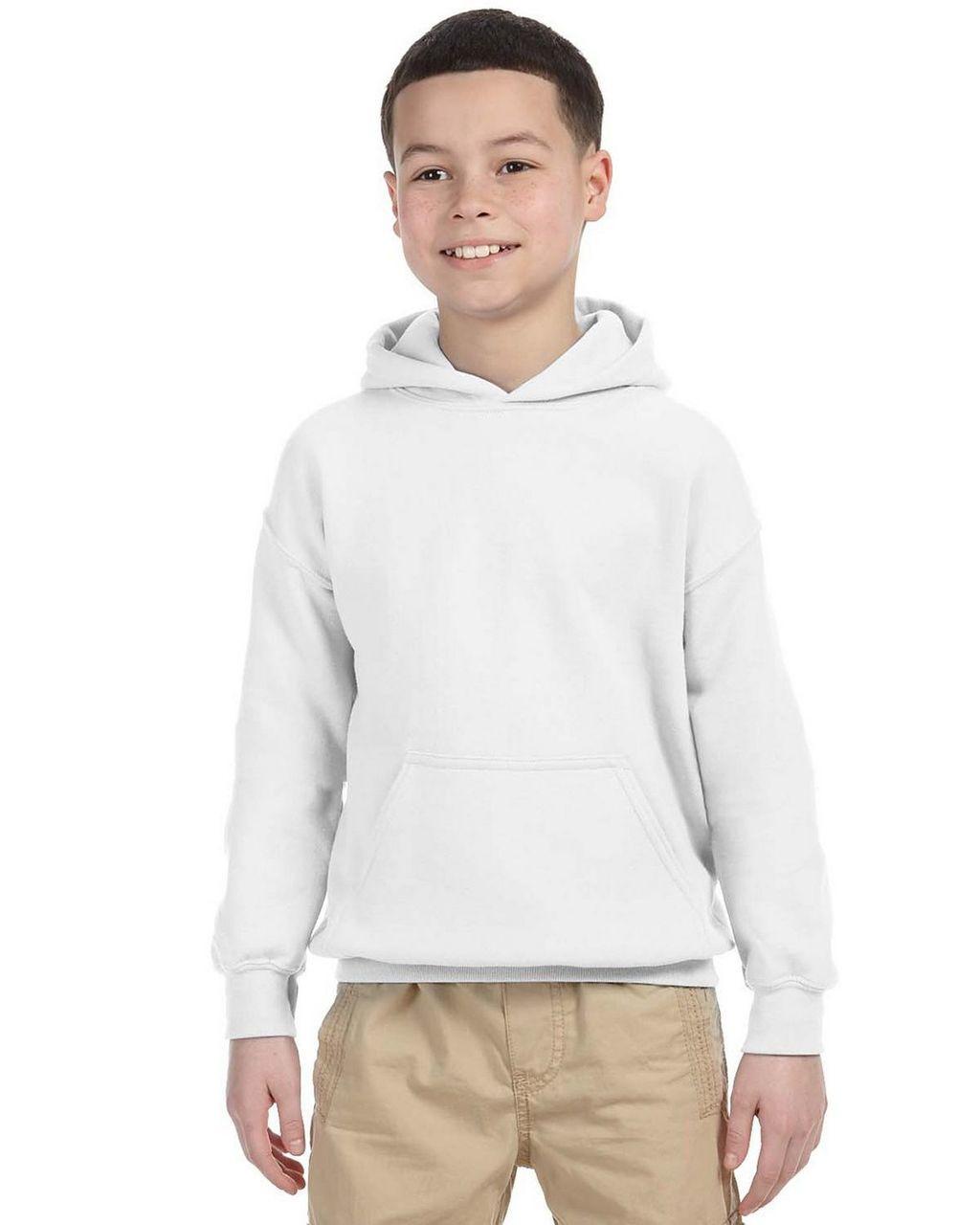 18500B Gildan Youth Hooded Sweatshirt | T-shirt.ca