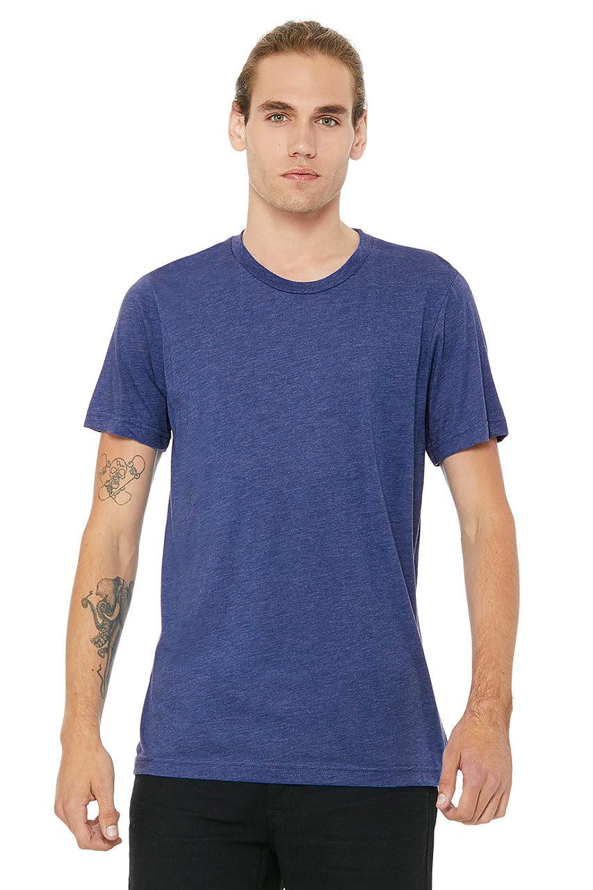 True Royal Triblend - B3413 Bella+Canvas Triblend T-shirt | T-shirt.ca