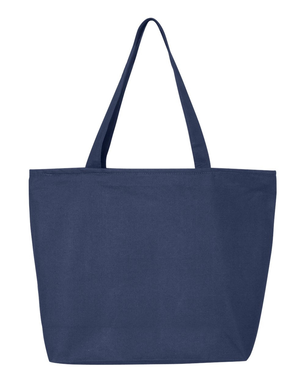 Q611 Q-Tees Canvas Zippered Tote Bag | T-shirt.ca
