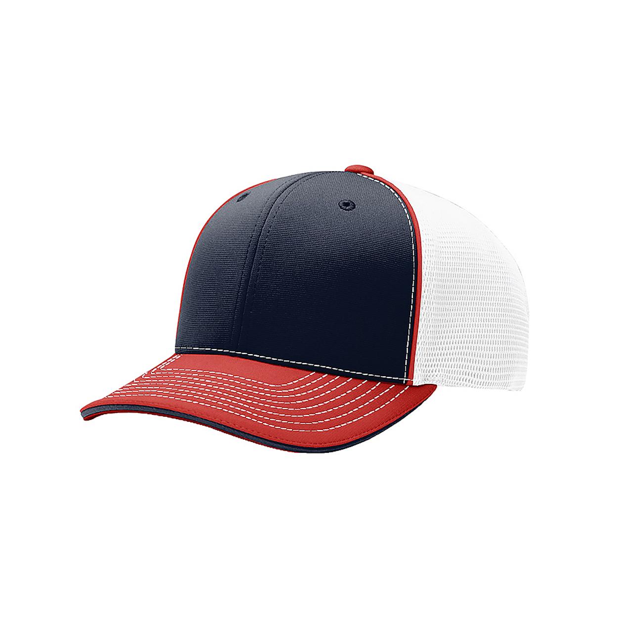 Navy/ White/ Red Tri - RC172 Pulse Sportmesh R-Flex Cap | T-shirt.ca