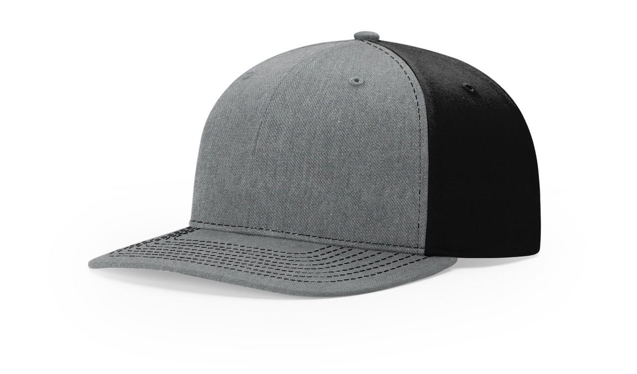 Heather Grey/ Black - RC312 Richardson Twill Black Trucker Hat | T-shirt.ca