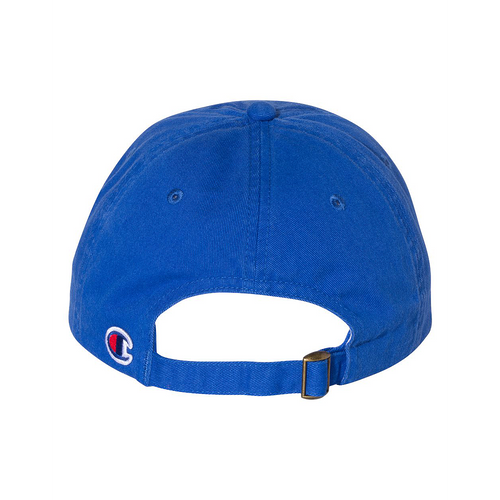 Royal - Back,  CS4000 Champion Washed Twill Dad Hat | T-shirt.ca