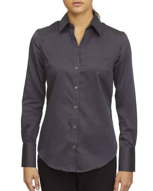 18CC100 Calvin Klein Ladies' Long Sleeve Non Iron Dobby Shirt   T-shirt.ca