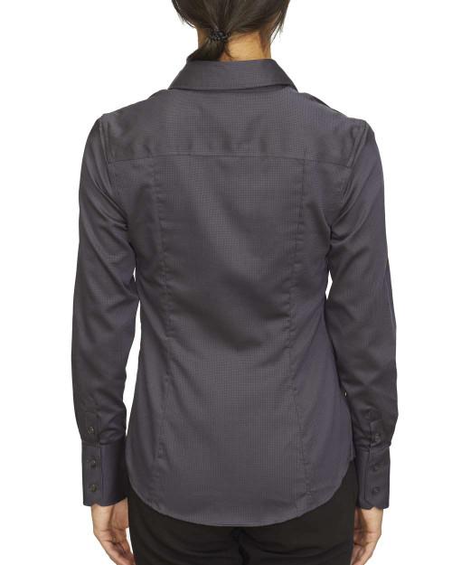 18CC100 Calvin Klein Ladies' Long Sleeve Non Iron Dobby Shirt | T-shirt.ca