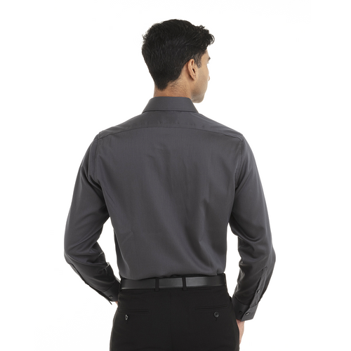 Carbon - Back, 18CC110 Calvin Klein Long Sleeve Non Iron Pincord Shirt | T-shirt.ca