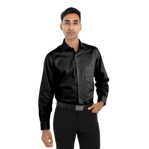 Black - 18CV315 Van Heusen Long Sleeve Flex Stretch Shirt | T-shirt.ca
