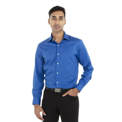 Ultra Blue - 18CV316 Van Heusen Long Sleeve Dress Twill Shirt   T-shirt.ca