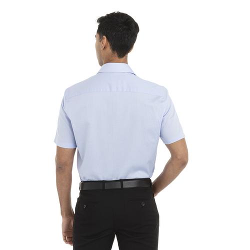 English Blue - Back, 18CV317 Van Heusen Short Sleeve Dress Twill Shirt | T-shirt.ca